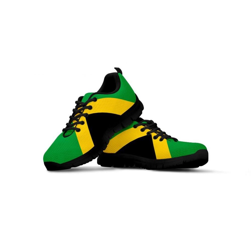 INSTANTARTS-أحذية رياضية شبكية للرجال ، أحذية رياضية مسطحة مع طبعة علم جامايكا ثلاثية الأبعاد للشباب