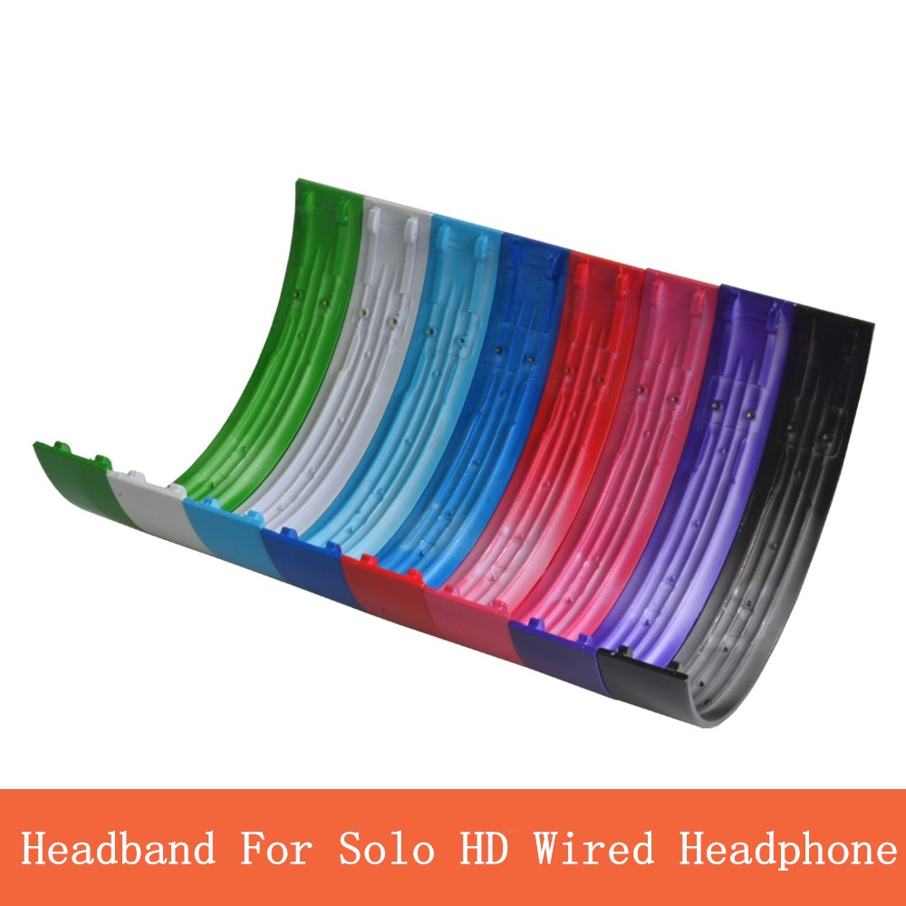 Substituição peças de fone de ouvido cabeça arco para solo hd wired fones capacetes plástico escudo superfície brilhante