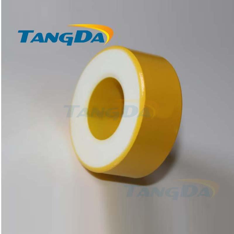 Tangda الحديد مسحوق النوى T201-26 OD * ID * HT 51*23.5*22.7mm 224nH/N2 75ue الحديد الغبار الأساسية الفريت حلقي حلقية الأساسية الأصفر الأبيض