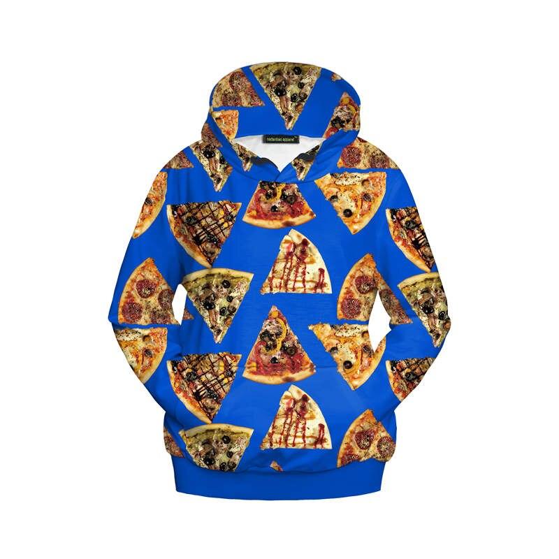Sudaderas con capucha de Otoño e Invierno para mujer, jerséis con capucha y comida para Pizza, ropa de invierno informal para mujer