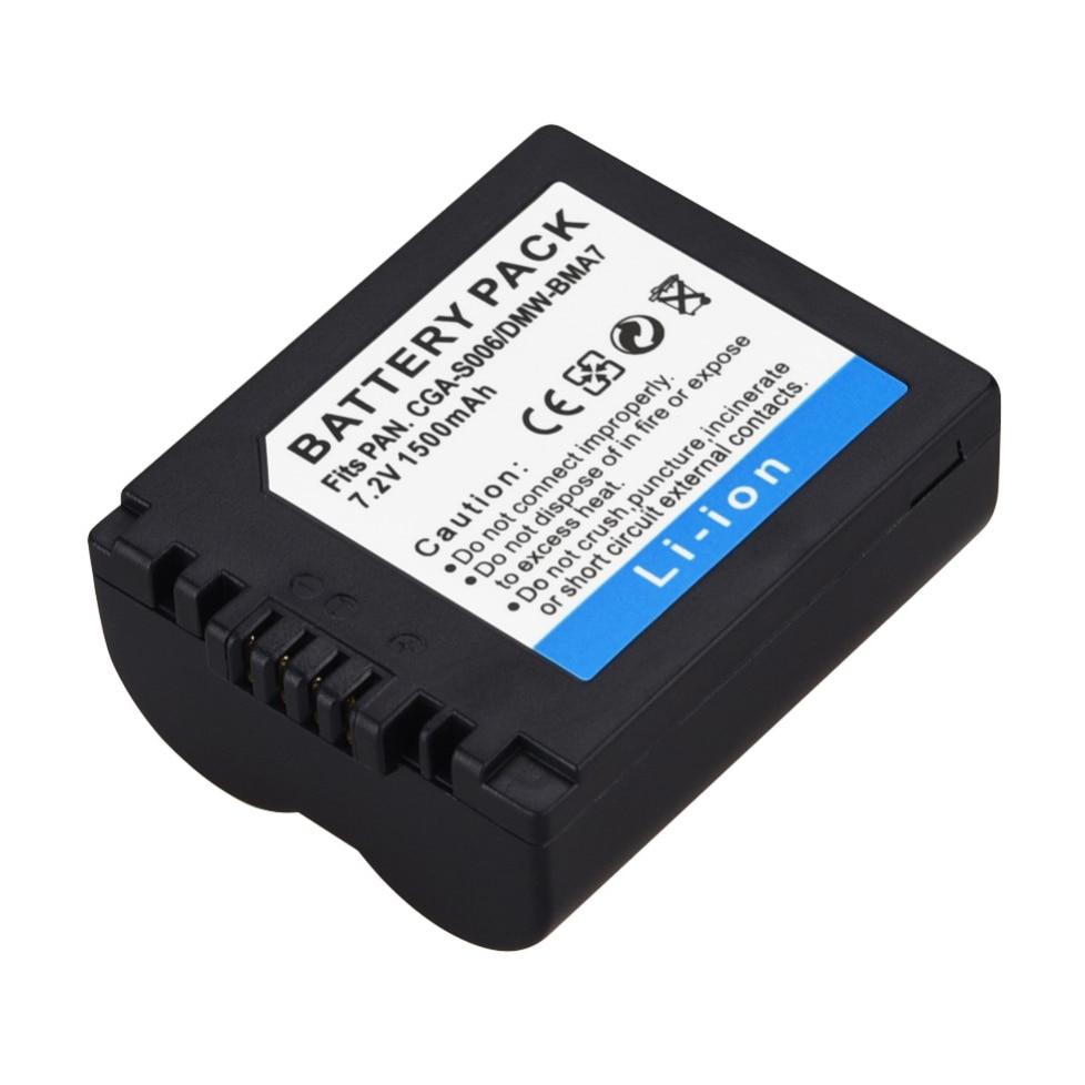 Аккумулятор для цифровой камеры Panasonic, 1500 мАч, CGA-S006E, FZ8, FZ18, FZ35, FZ28, FZ38, FZ30, 1 шт.