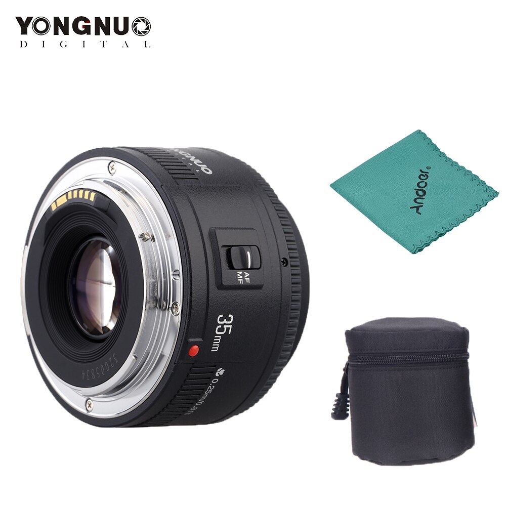 Lente de enfoque automático Yongnuo YN35mm F2.0 gran angular fijo/principal para Canon 600d 60d 5DII 5D 500D 400D 650D 600D 450D lente de cámara