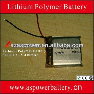 2 Pcs Recarregável 503030 3.7 v 430 mah bateria lipo