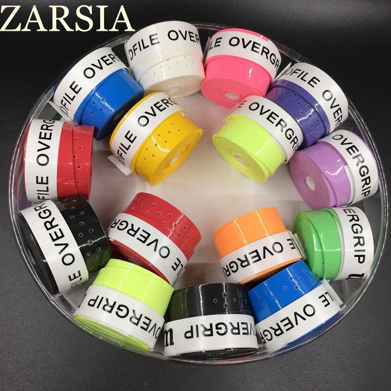60 pecs/lot ZARSIA collant Pro surgrip tennis grip perforé Badminton Grip/tennis surgrips/tennis produit