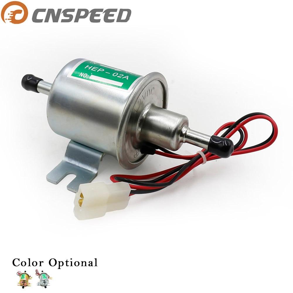 CNSPEED bomba de combustible eléctrica Universal de coche Diesel 12v Petro bomba de combustible para gasolina de suministro de combustible de baja presión Hep-02a tipos plata