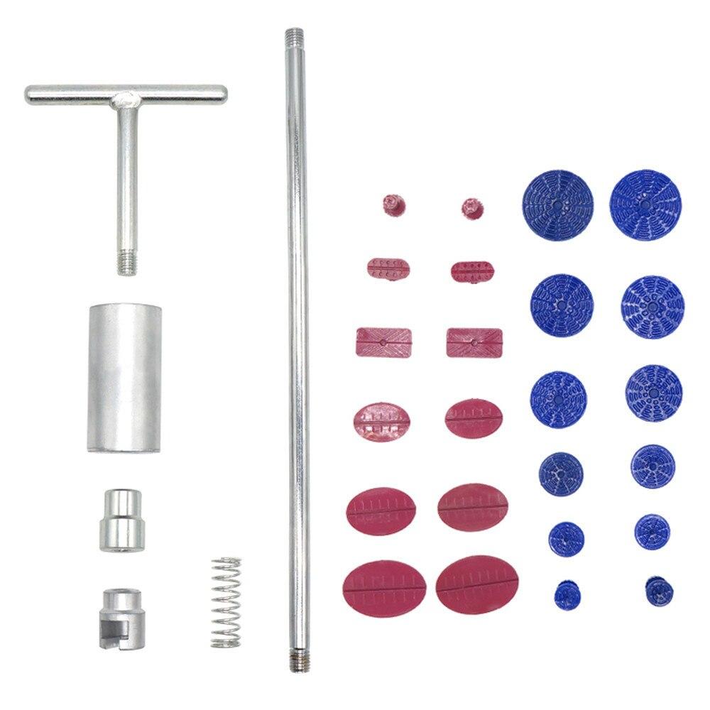 Kit de herramientas PDR Extractor de abolladuras martillo deslizante PDR pegamento pestañas Fungi ventosa para la eliminación de abolladuras Reparación de abolladuras sin pintura