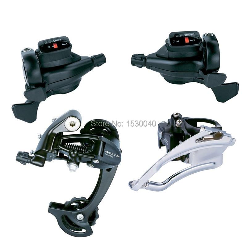 MicroSHIFT Triple 3X7/8/9 Speed 21/24/27 juego de bicicleta MTB bicicleta delantera trasera cambio de grupo Compatible con Shimano