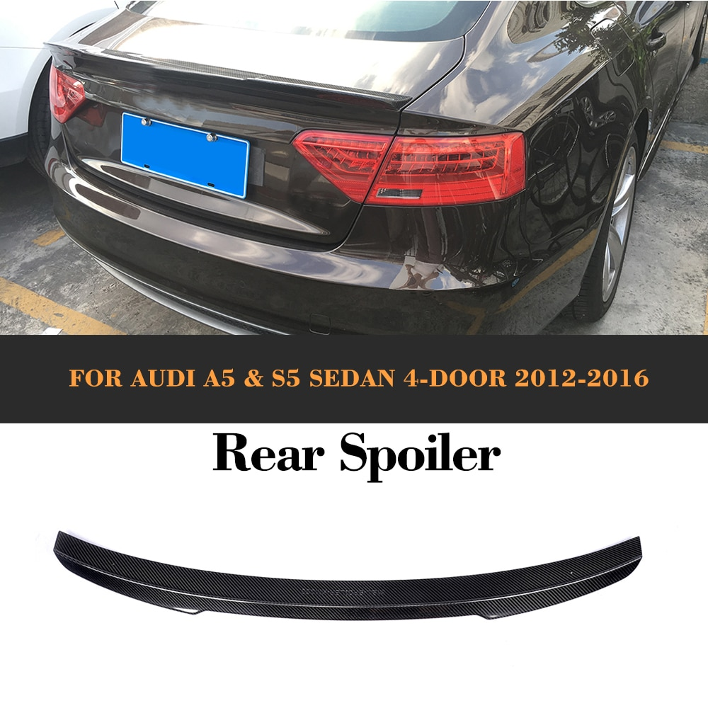 De fibra de carbono de carreras de automóviles coche trasera maletero labio ala Spoiler para Audi A5 S5 Sline Sedan 2012 de 2013 de 2014 2015, 2016 no.