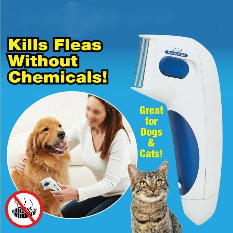 Pet Flea Lice Cleaner Comb Electronic Dog Flea Cleaning Brush Pets Flea Controller Killer Remover Pe
