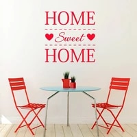 Autocollants muraux maison douce   Etiquette etiquette Art Mural  decoration de la maison  chambre cuisine et salle a manger  Design de mode  en lettre a decorer  Z474