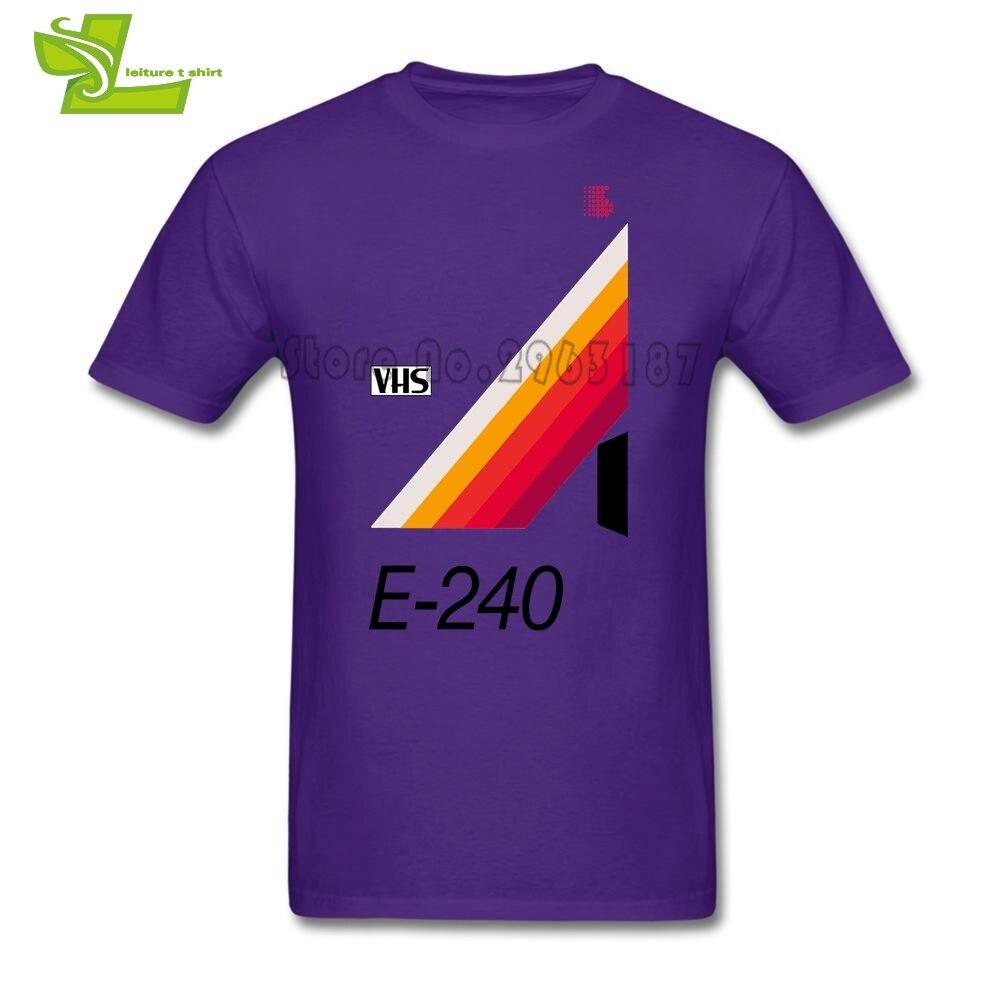 E-240 Retro VHS cinta Vaporwave estético masculino camiseta personalizada Tops niño camisas de manga corta Teenboys ropa de personalidad