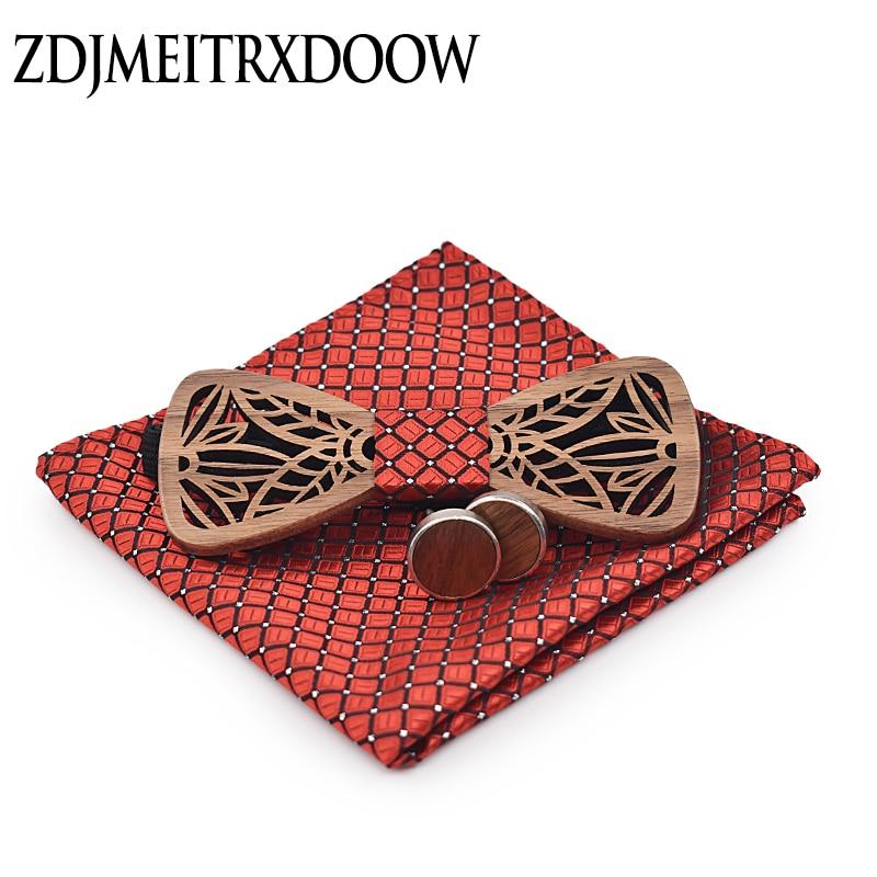 ZDJMEITRXDOOW деревянный галстук-бабочка набор и платок галстук-бабочка галстук Homme Noeud Papillon человек Corbatas Hombre Pajarita