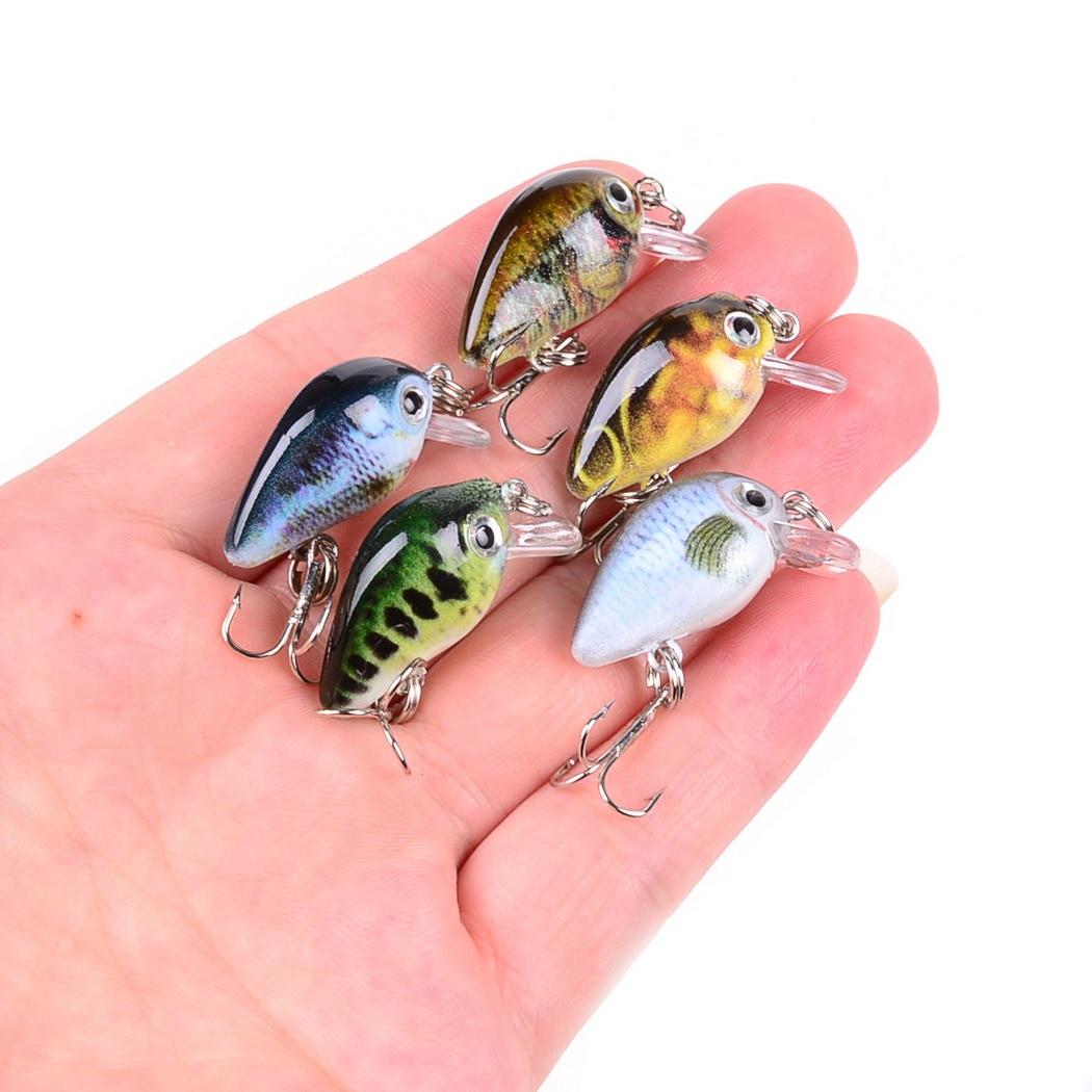Aorace 30mm 2g louco wobblers mini topwater crankbait artificial japão isca dura pesca flutuante iscas baixo