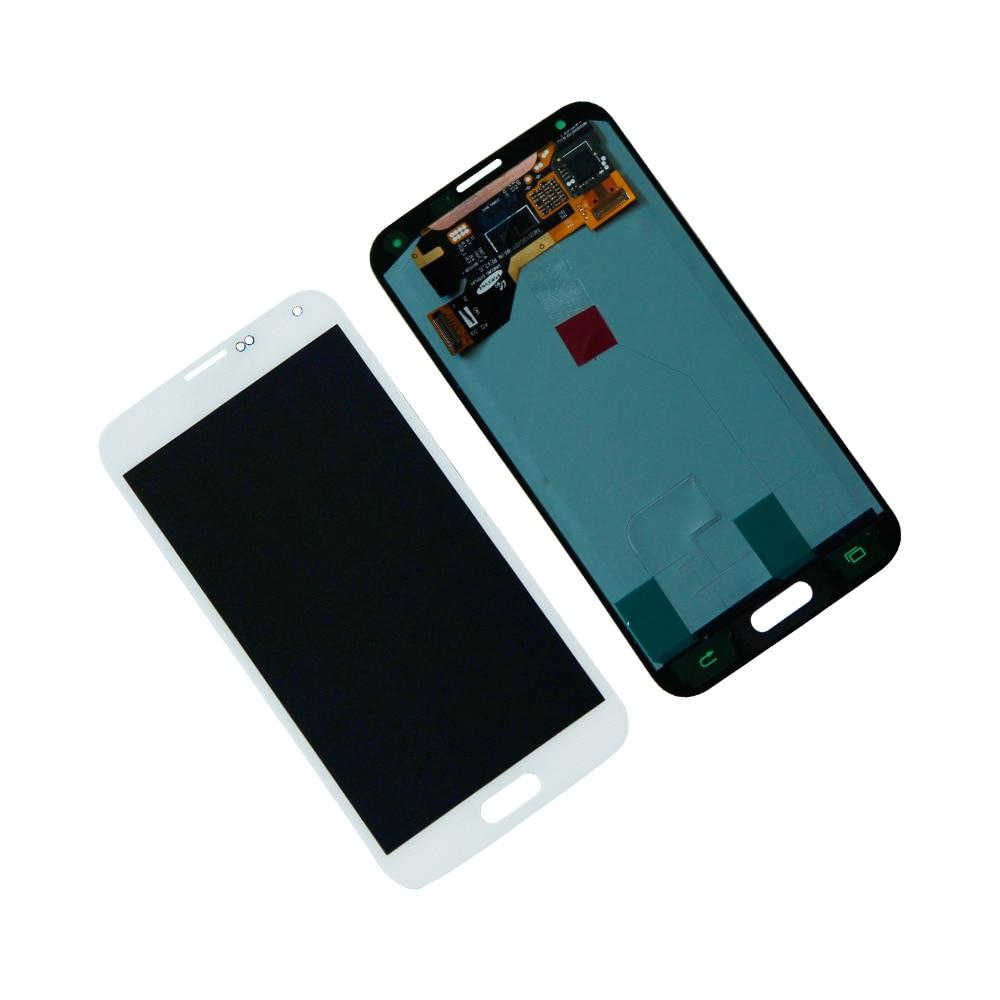 ЖК-дисплей для Samsung Galaxy S5 i9600 SM-G900A SM-G900T ЖК-дисплей сенсорный экран дигитайзер сборка запчасти для ремонта