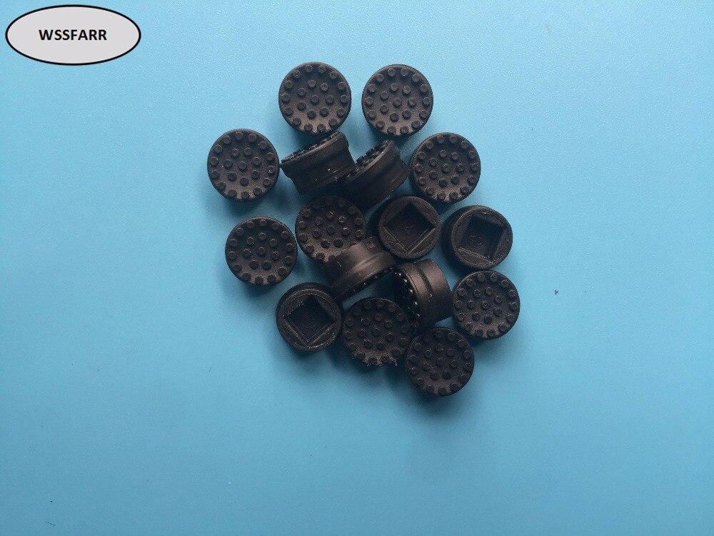 10 unids/lote para hp negro ratón de trackpoint tapas de goma de repuesto