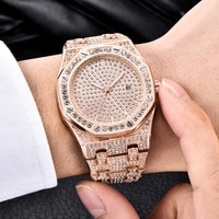 TOPGRILLZ ICED OUT Watch Quartz Gold HIP HOP Wrist Watches