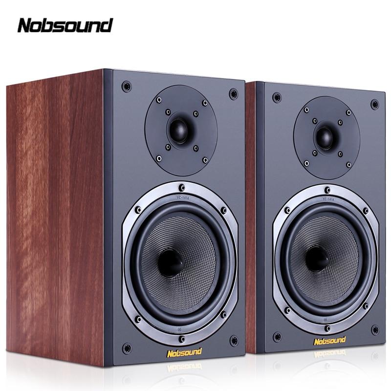 Nobsound NS-602 الخشب 100 واط 1 زوج 6.5 بوصة رف الكتب مكبرات الصوت 2.0 HiFi العمود الصوت المنزل المهنية المتكلم