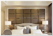 Panneau acoustique en cuir PU 50*30cm   12 pièces, panneau personnalisé en cuir PU, panneau mural, choix de tête de lit en tissu, caractéristique mur