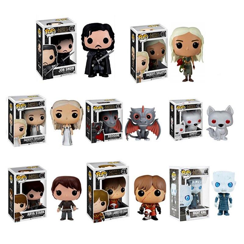 Niños Niñas Juego de tronos figura de juguete Cosplay Daenerys Targaryen Jon Snow Gragon noche rey carnaval Navidad Año nuevo regalo