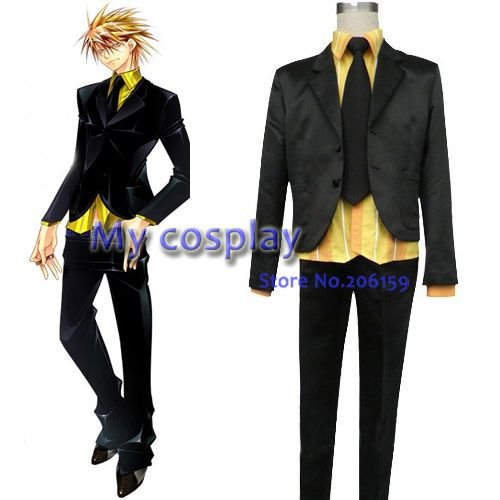 Perro de la suerte Anime Cosplay Gina Carlo uniforme masculino anime japonés Cosplay chaqueta traje Halloween fiesta más tamaño anime traje