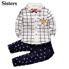 SISRERS-vêtements printemps pour bébés garçons   Ensembles chemise + pantalon, marque, à la mode, nouvelle collection 2017