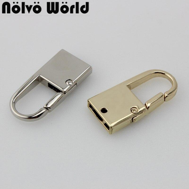 30pcs 14mm bag hanger handbag metal fitting hardware handbag/bag's tassel cap clasp hook handbag screw connector