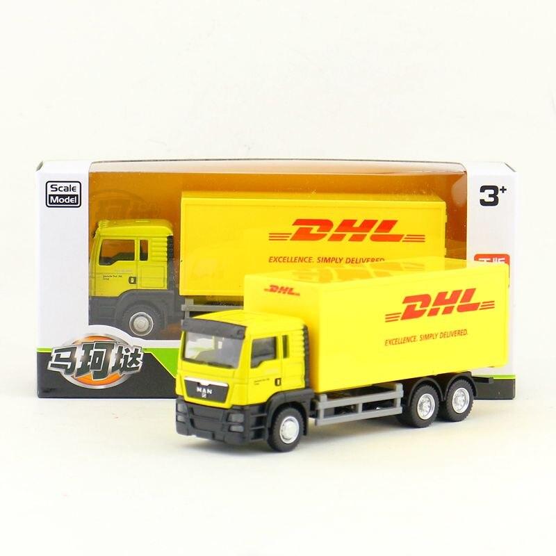 RMZ City/modelo de coche de juguete fundido/1: escala 64/camión de entrega de contenedores MAN DHL/Colección educativa de vehículos/REGALO/chico/caja Original