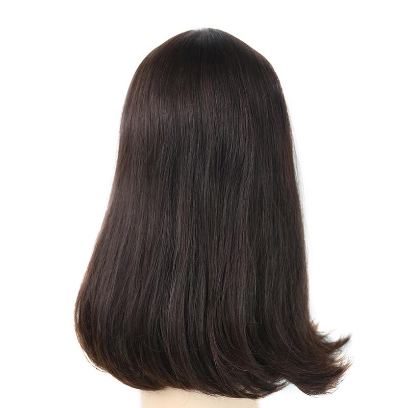 LADYSTAR Remy cabello humano brasileño 130% densidad recta completa Peluca de encaje para mujer completa hecha a mano doble Peluca de encaje