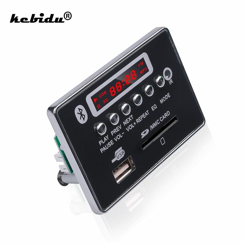 Módulo Bluetooth de placa decodificadora de MP3 manos libres kebidu, reproductor de MP3 USB para coche, Radio auxiliar FM USB para coche, Control remoto integrado, nuevo