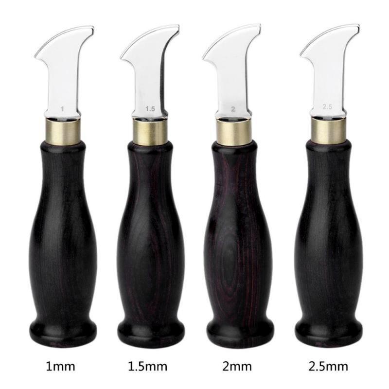 Новые кожаные кромки с эбеновыми ручками, краями для кожевенного ремесла, маркировочная кромка, инструмент для украшения линии, лезвие, мелкая канавка, пресс-линия
