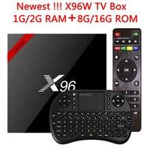 Original X96 X96W Smart TV Box 7.1 Amlogic S905W CPU lecteur multimédia Android TV Box1G/8G 2G/16G 2.4GHz WiFi HD 4K décodeur