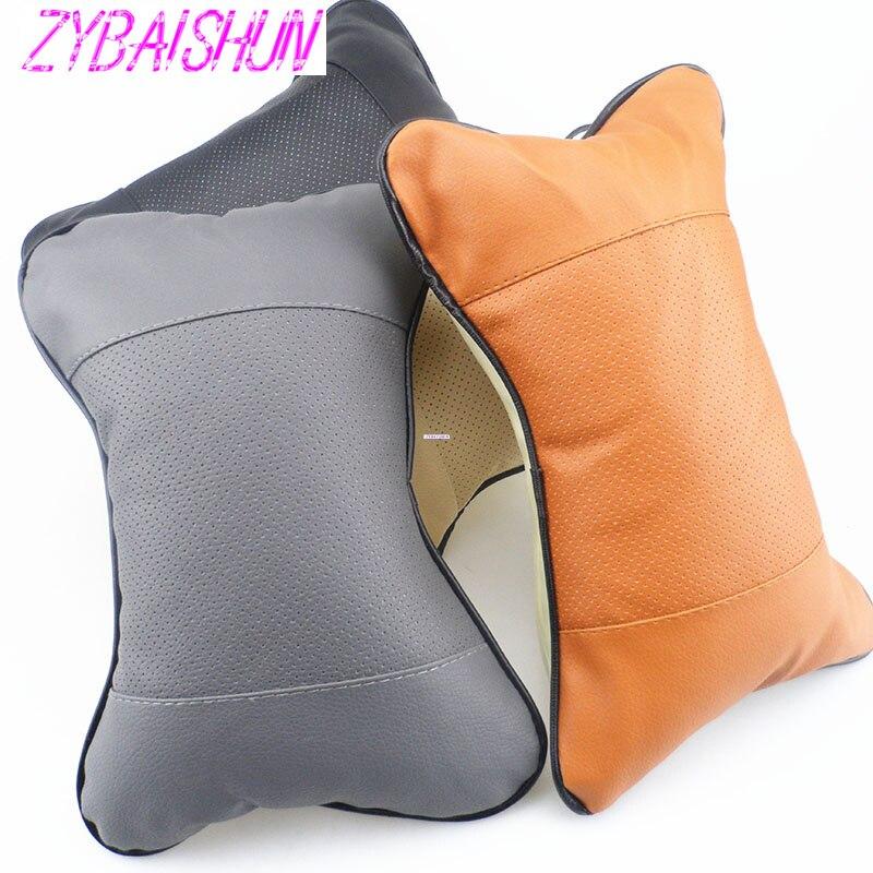 2 pçs/pescoço encosto de cabeça respirável carro travesseiro estilo do carro acessórios para volvo s40 s60 s80 xc60 xc90 v40 v60 c30 xc70 v70