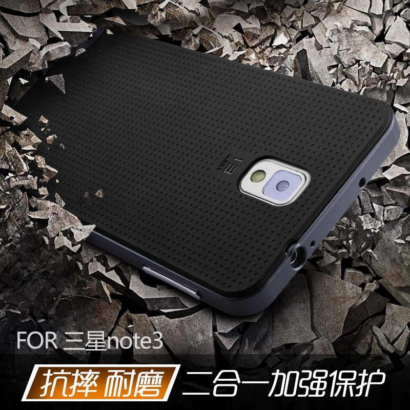Für Samsung Galaxy Note 3 fall, original Ipaky Marke PC Rahmen + Silikon zurück abdeckung handy fall für Samsung Galaxy Note3