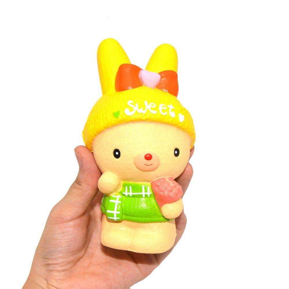 1 piezas nuevo Kiibru Jumbo 14 CM Squishy perfumada lento aumento dulce flor de conejo de peluche de juguete niños regalo de Halloween