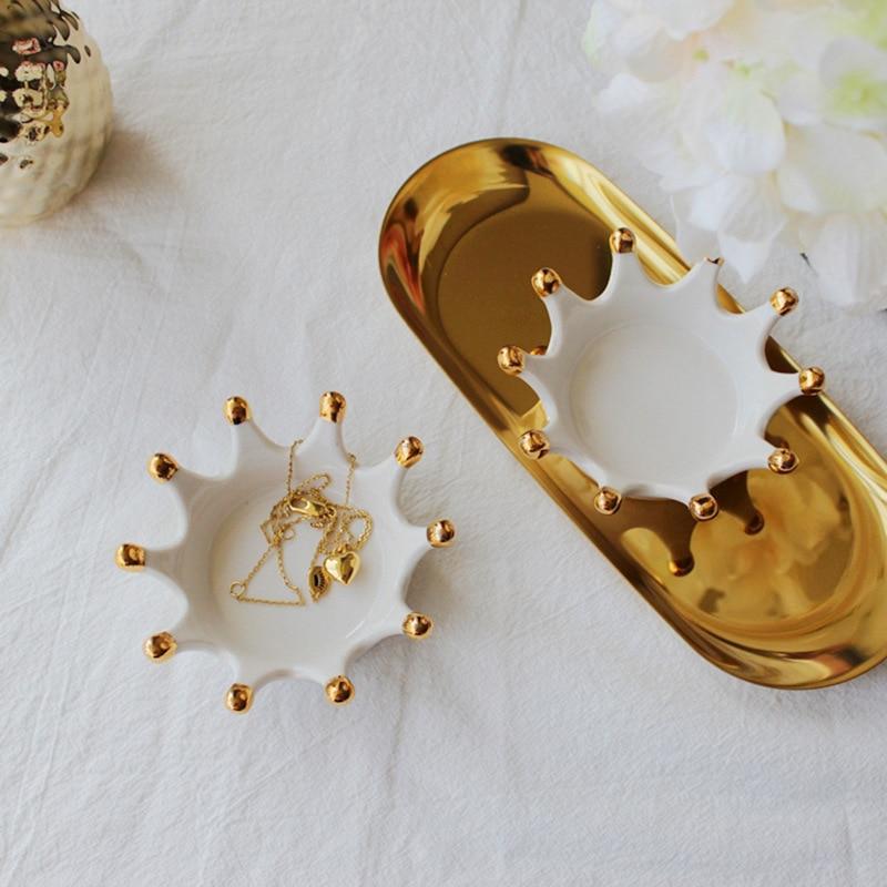 Корона в скандинавском стиле, керамическое украшение, кольцо, серьги, браслет, поднос для хранения, креативные подарки для дома, Трендовое у...