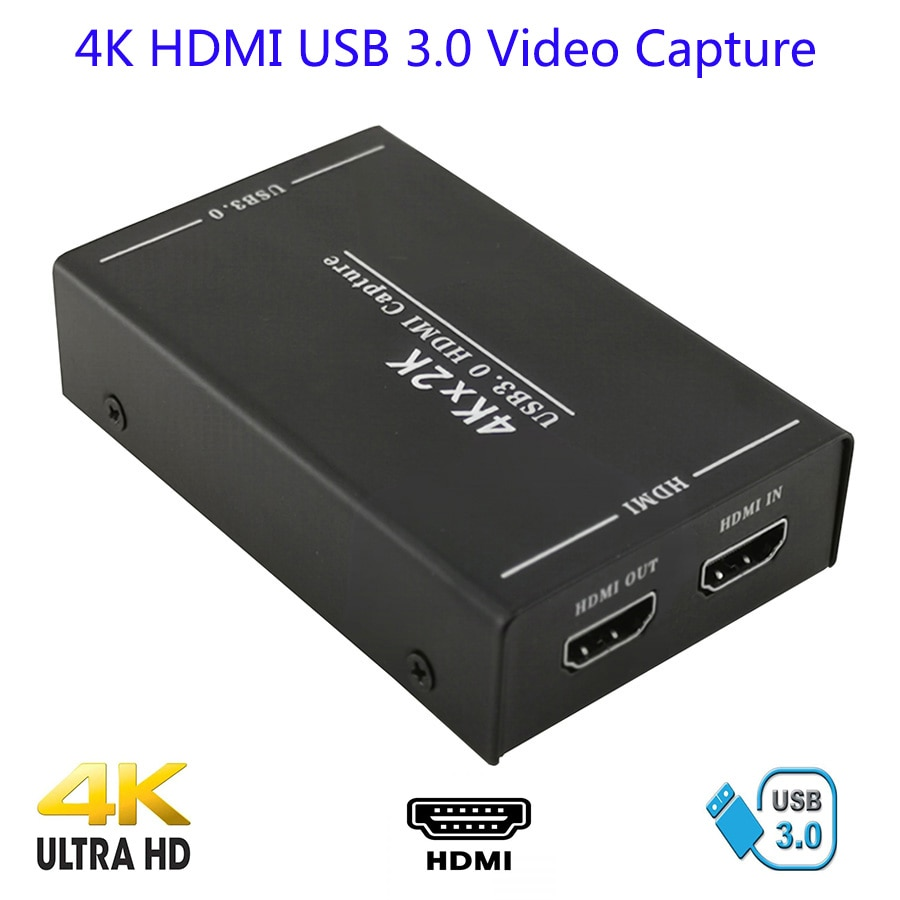 4K HDMI zu USB 3,0 Video Capture Card Video Recorder Für OBS vMix Wirecast Potplayer VLC Encoder QuickTime Player live-Streaming