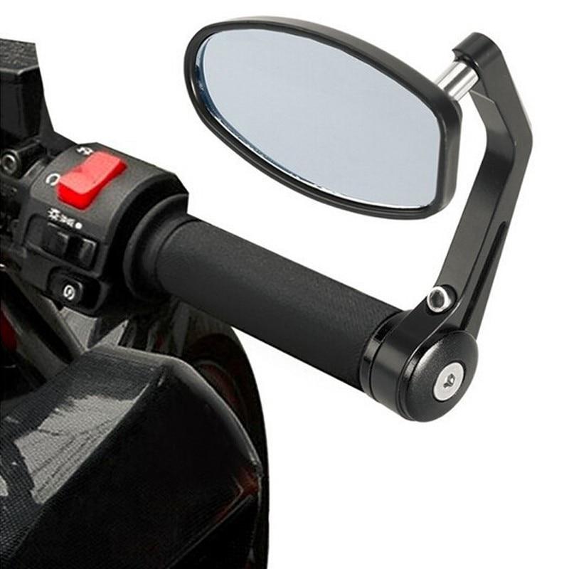 "2 uds 7/8 ""moto rcycle espejos bar final espejo retrovisor moto r manillar final espejo Cafe Racer retrovisor moto rcycle espejos"