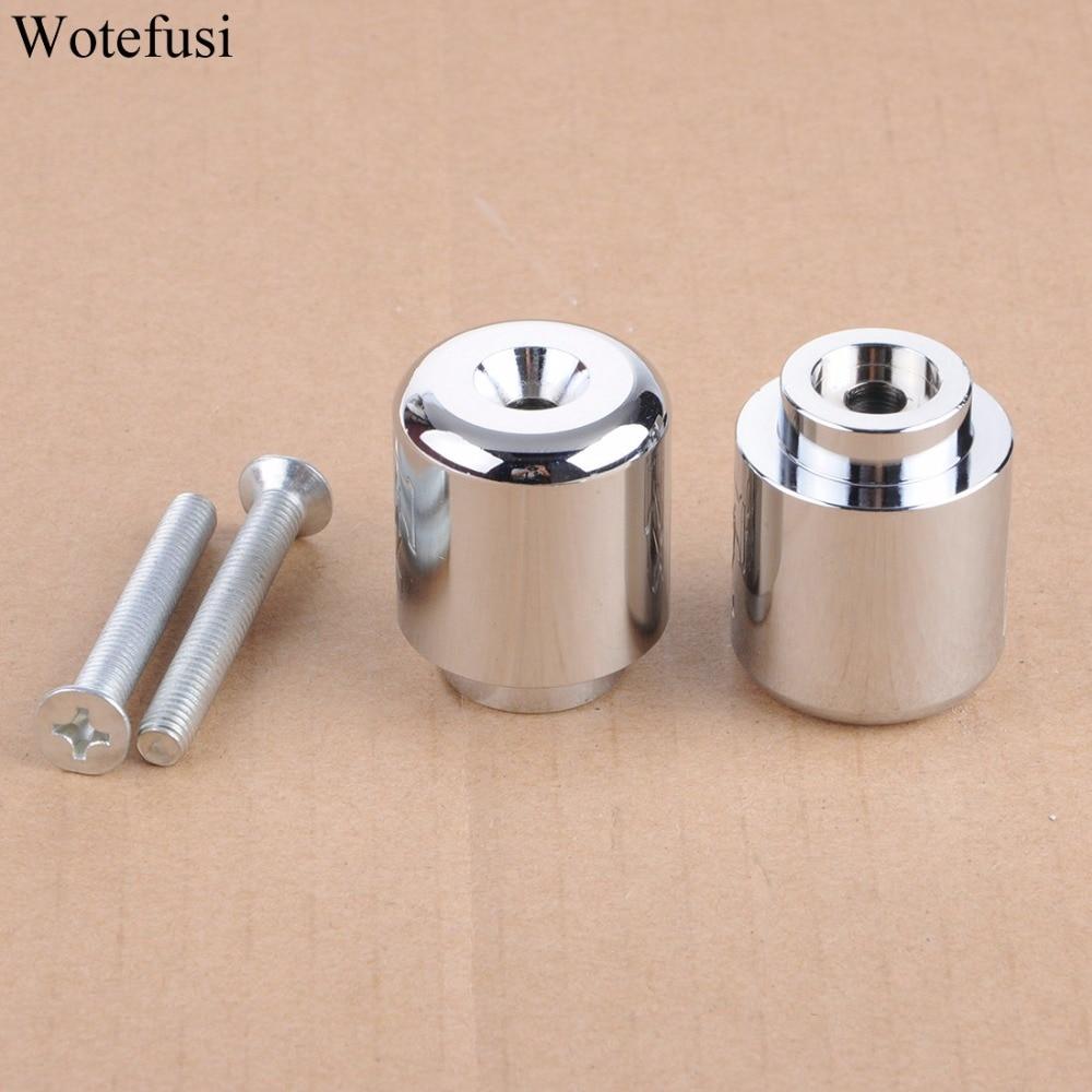 Wotefusi Chrome Handle Bar Tampas Extremidades Peso Para Yamaha YZF 06-12 R6 R1 03 04 05 06 07 08 09 10 FJR1300 [PA465-PA466]