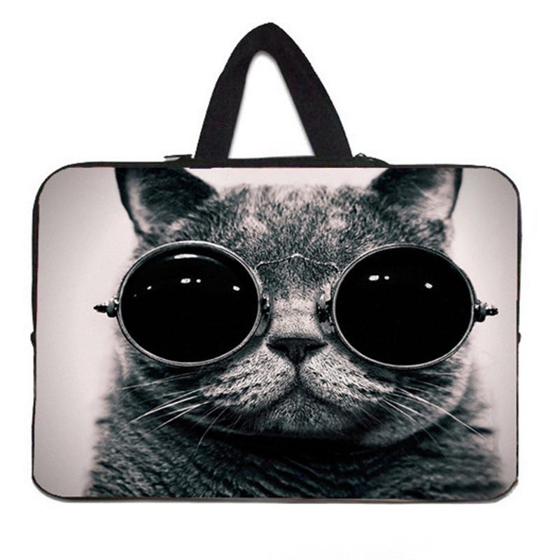 Sunglasses Cat Laptop Sleeves Case Bag For 7.9 10 11.6 13.3 15 15.6 17.4
