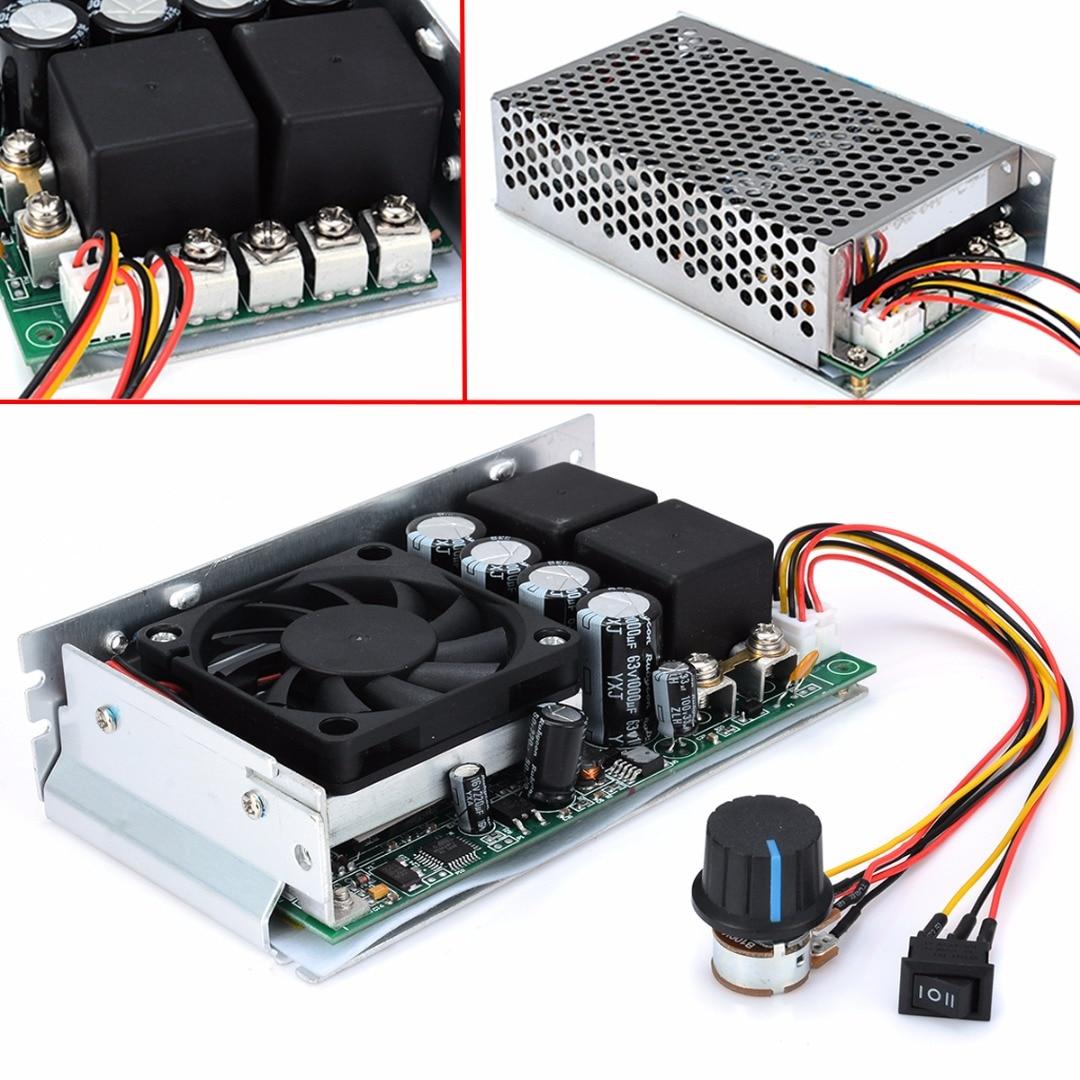 وحدة تحكم في سرعة المحرك القابلة للعكس ، 100 أمبير ، 3000 واط ، تيار مستمر 10-50 فولت ، PWM