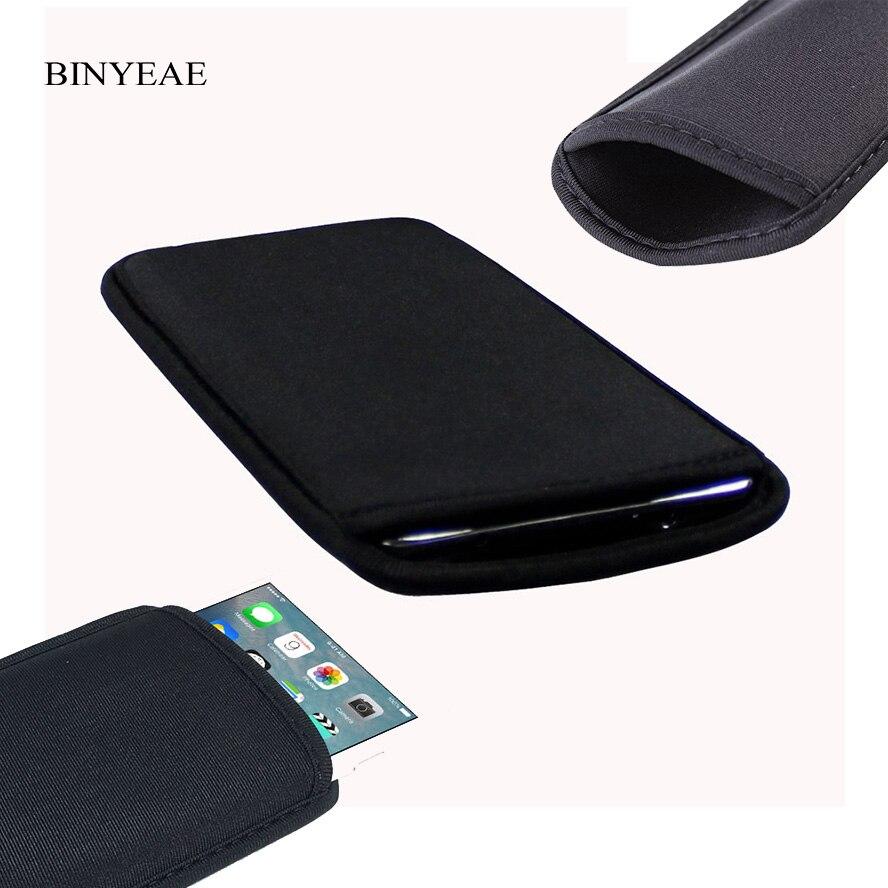 Neoprene Protetor macio Flexível Preto Bolsa Para Sony Xperia C S39H C2305/ZR M36H C5502 C5503 Manga Elástica universal saco Caso
