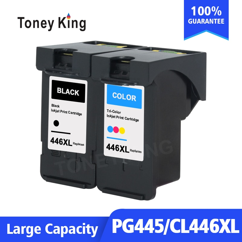 Toney King PG-445XL PG445 CL-446 XL Ink Cartridge Replacement for Canon PG 445 CL 446 for Canon PIXMA MX494 MG2440 MG2540