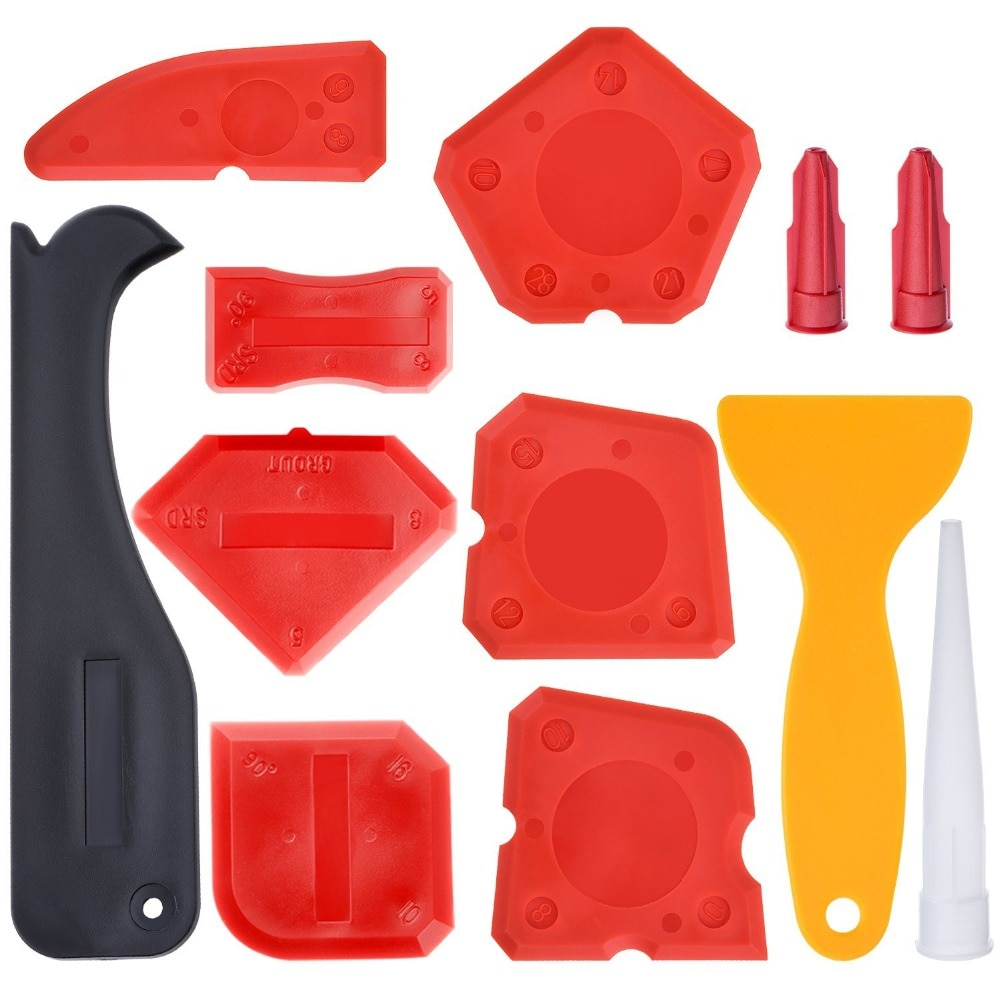 Набор инструментов для чеканки, 12 штук, силиконовый герметик, Отделочный Инструмент, скребок для заточки, средство для удаления чеканки, нас...