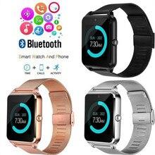 Reloj inteligente GT08 Plus con correa de Metal Z60, reloj inteligente de pulsera con Bluetooth, compatible con tarjeta Sim TF, reloj Android e IOS pk Q9