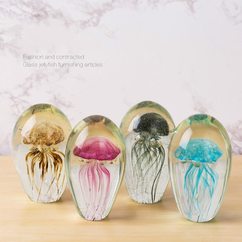 الكريستال الكرة الإبداعية قنديل البحر الزجاج فن الديكور ديكور المنزل الملونة الكريستال والزجاج الديكور