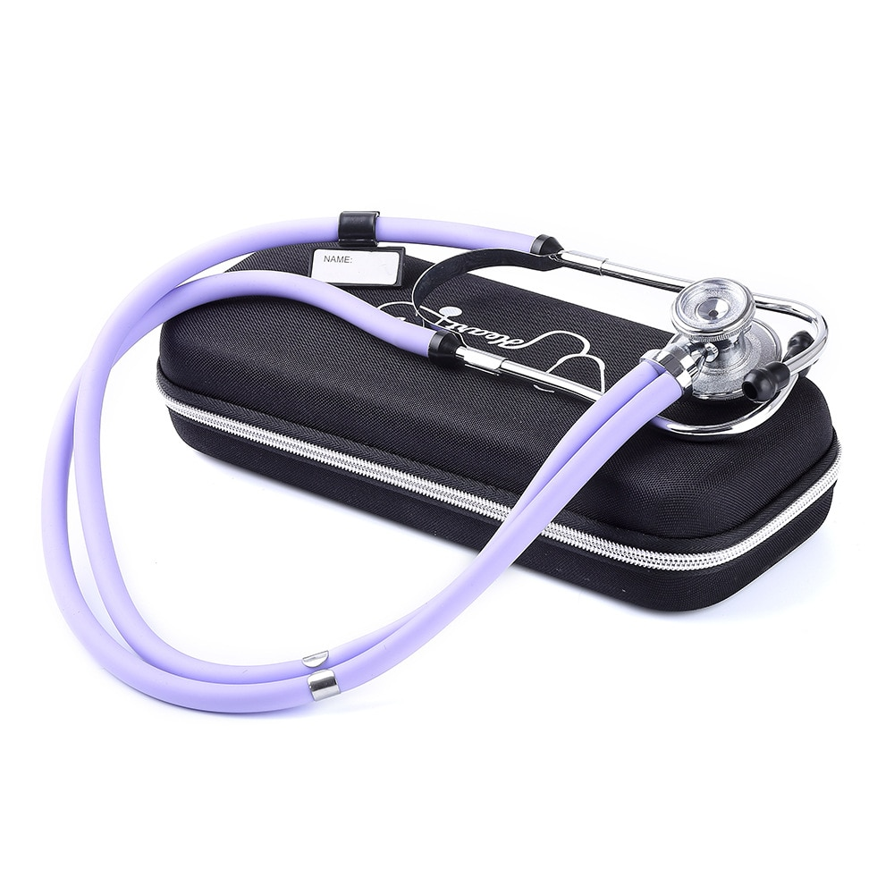 Medical Portable Cardiology Stethoscope EVA Bag Mesh Pockets with Accessories and Waterproof Anti-Shock Storage Box Hard Case
