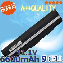 6600mAh Battery for Asus Eee PC 1201 1201HA 1201N 1201PN 1201T UL20 UL20A UL20G UL20VT 9COAAS031219 A32-UL20 90-NX62B2000Y