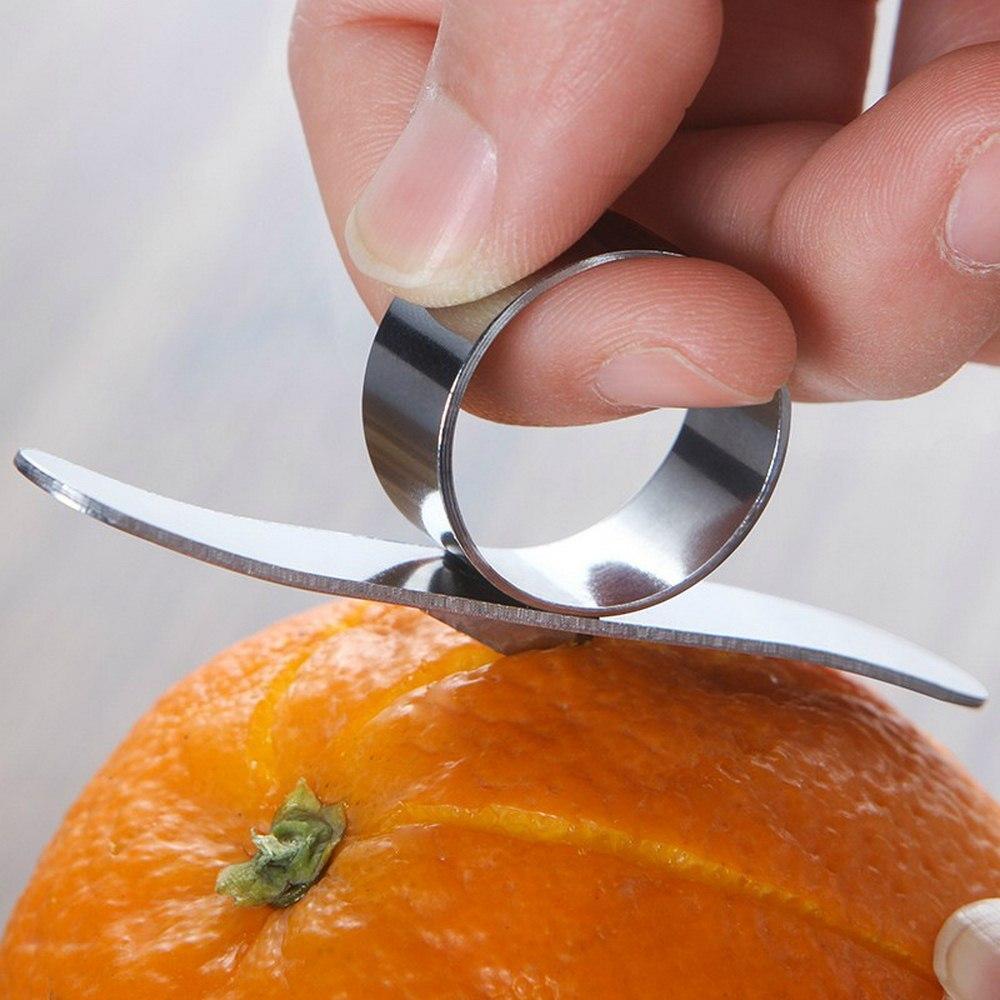 Peladores de naranja de acero inoxidable pelador de frutas pelador de piel de limón Lima abridor de verduras pelador de anillo dispositivo creativo herramienta de cocina