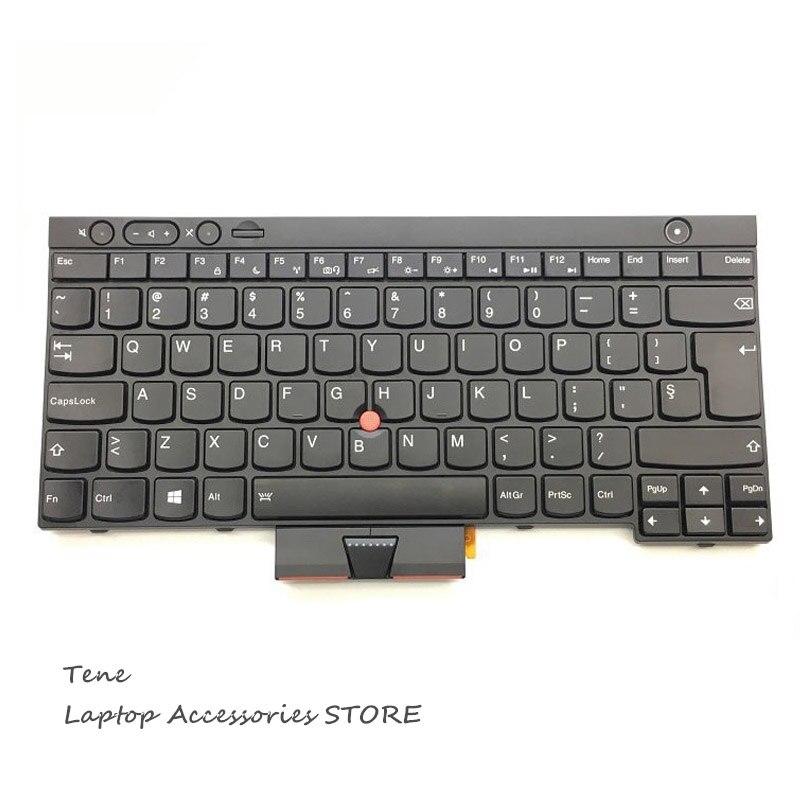لوحة مفاتيح الكمبيوتر المحمول بإضاءة خلفية ، لأجهزة Lenovo Thinkpad T430 T430i X230 X230i X230T T430S T530 T530i W530 L430 ، مفتاح إدخال كبير أصلي جديد