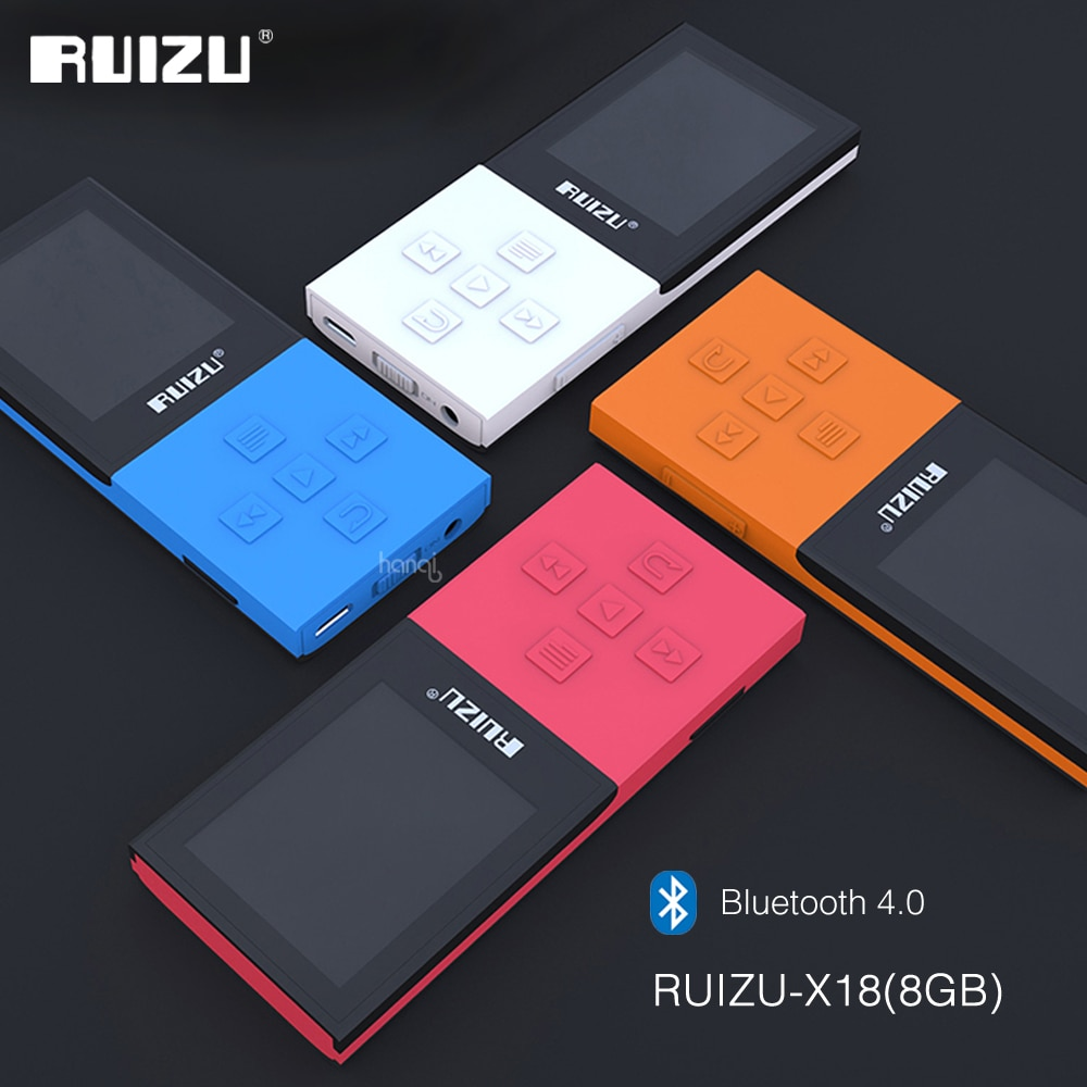 2017 Original RUIZU X18 8G Bluetooth Sport MP3 Player Lossless Recorder FM Radio Bluetooth 4.0 Music Player Support 64G TF Card